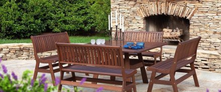 Jensen Leisure dark wood outdoor furniture